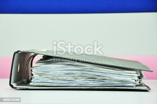 177170883 istock photo Files Binder On The Table 466626566