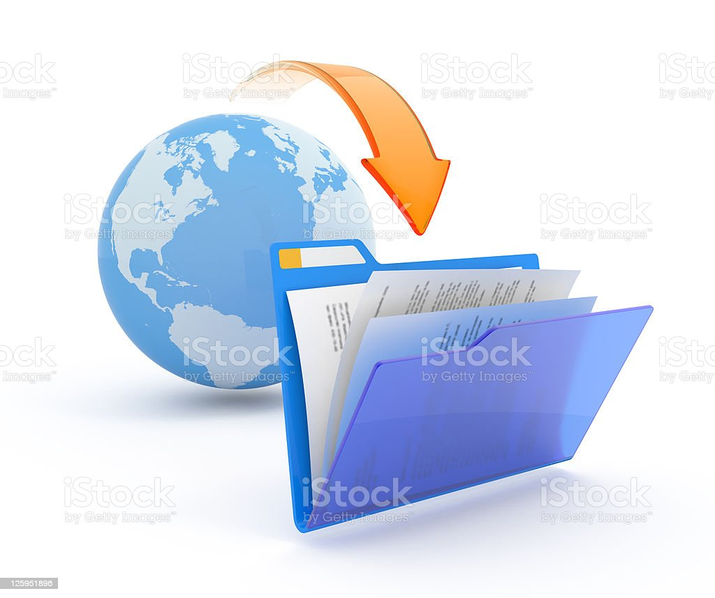 Files download. royalty-free stock photo