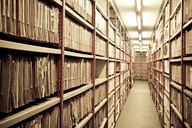Arquivos em um arquivo - foto de acervo