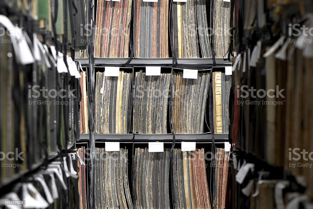 Files in Archive royalty-free stock photo