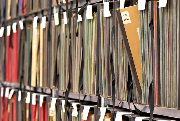 Files in Archive stock photo