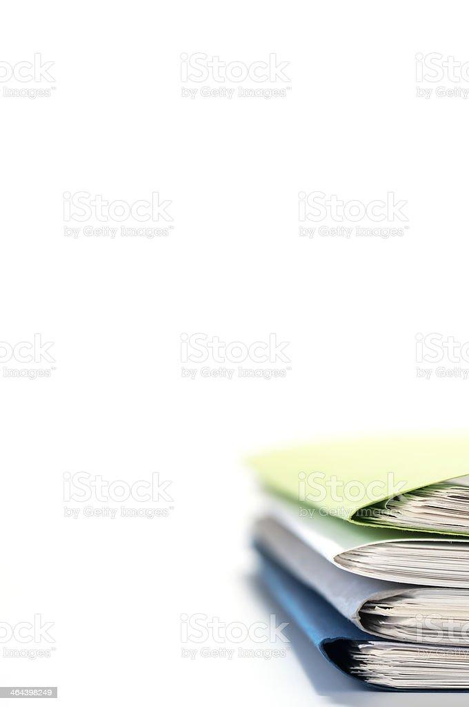 Files on desk. stock photo