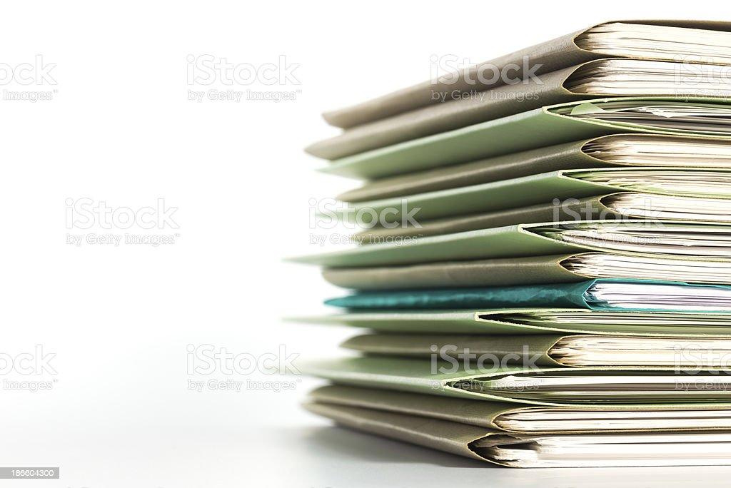 Los archivos. - foto de stock