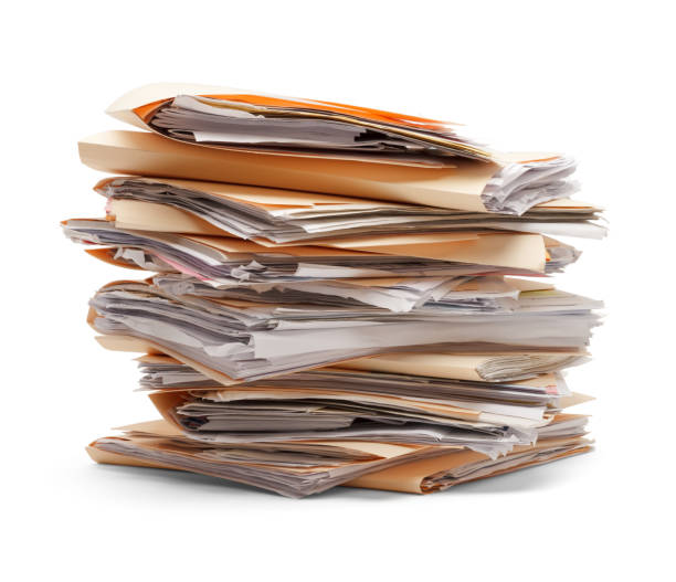Files Stacked stock photo