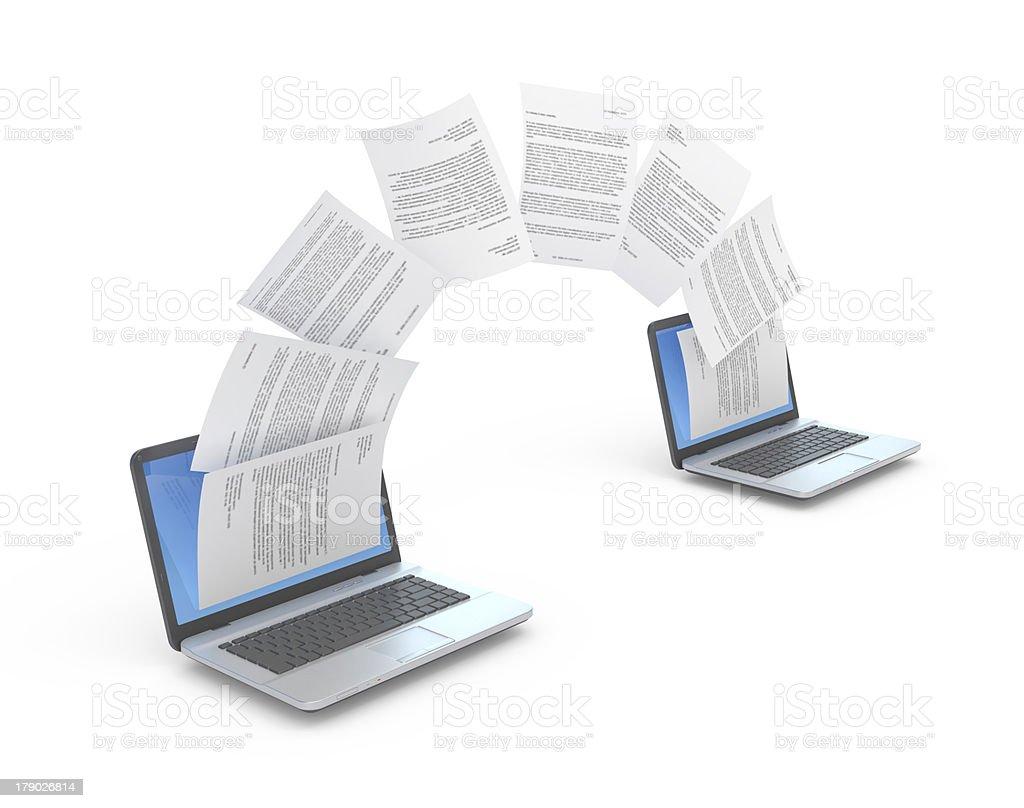 Files transferring. royalty-free stock photo