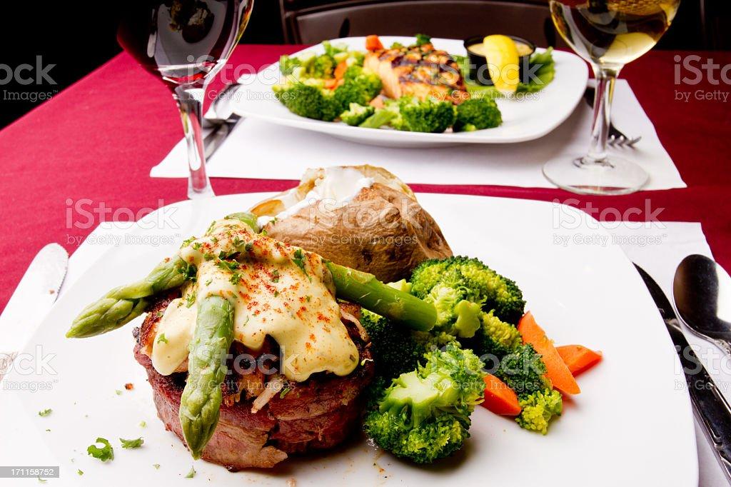 Filet Mignon Oscar stock photo