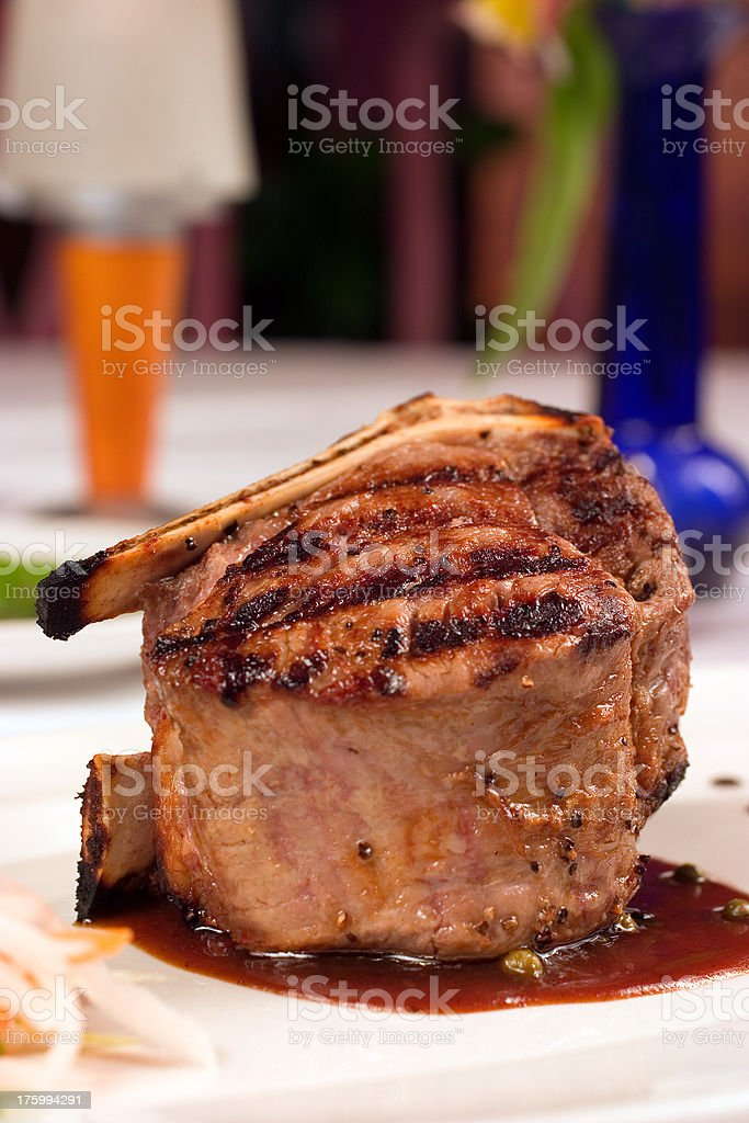 Filet Mignon (Bone-In) royalty-free stock photo