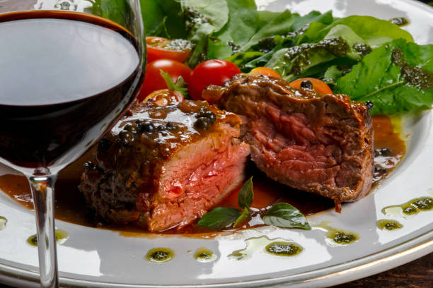 Filet mignon red wine sauce Filet mignon red wine sauce main course stock pictures, royalty-free photos & images