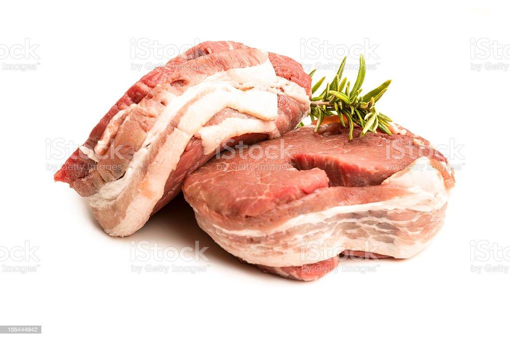 Filet Mignon Steaks Isolated royalty-free stock photo