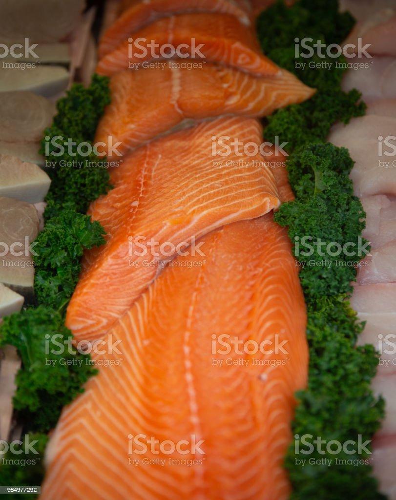 Filets von rohen Lachs – Foto