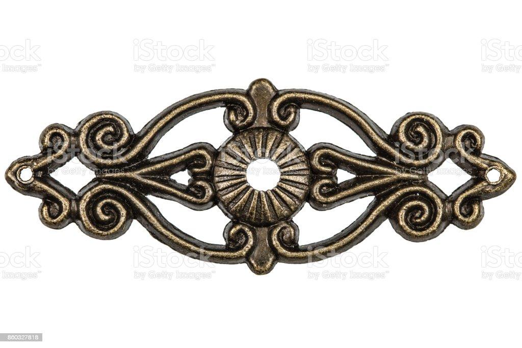Filigree, decorative element for manual work, isolated on white background stock photo