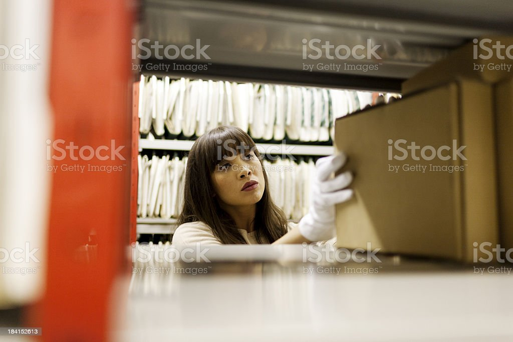 Filing archived material royalty-free stock photo