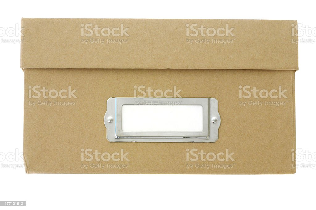 Filing box royalty-free stock photo