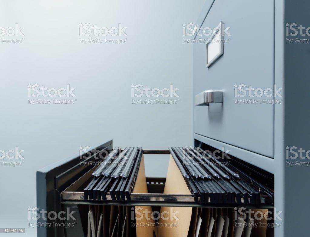 Aktenschrank und Dateien - Lizenzfrei Aktenschrank Stock-Foto