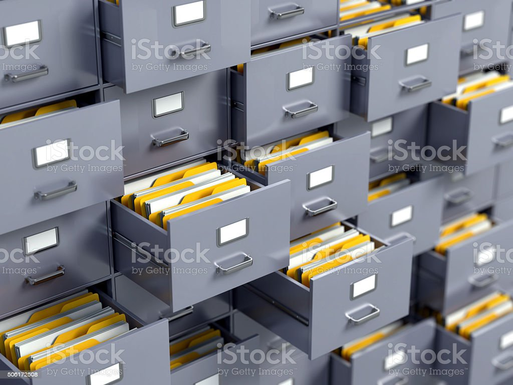 Filing Cabinet stock photo