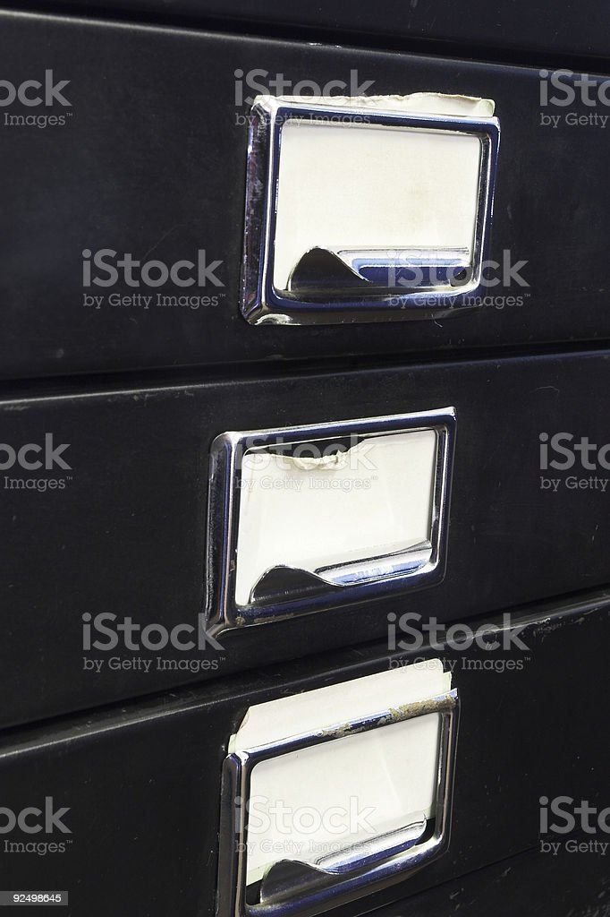 Filing cabinet #3 royalty-free stock photo