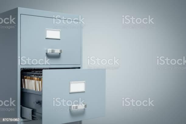 Aktenschränke Und Speicherung Von Daten Stockfoto und mehr Bilder von Aktenschrank