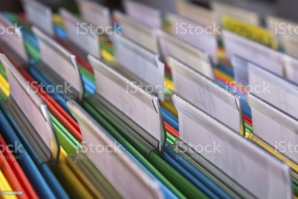 Filing documents stock photo