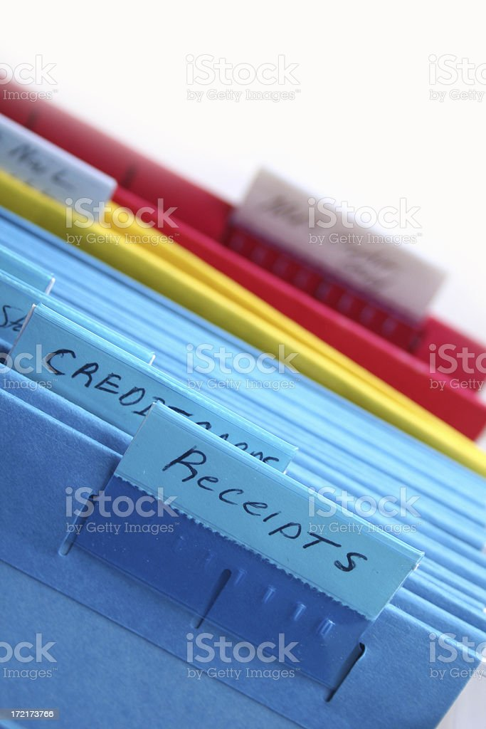 Filing documents royalty-free stock photo