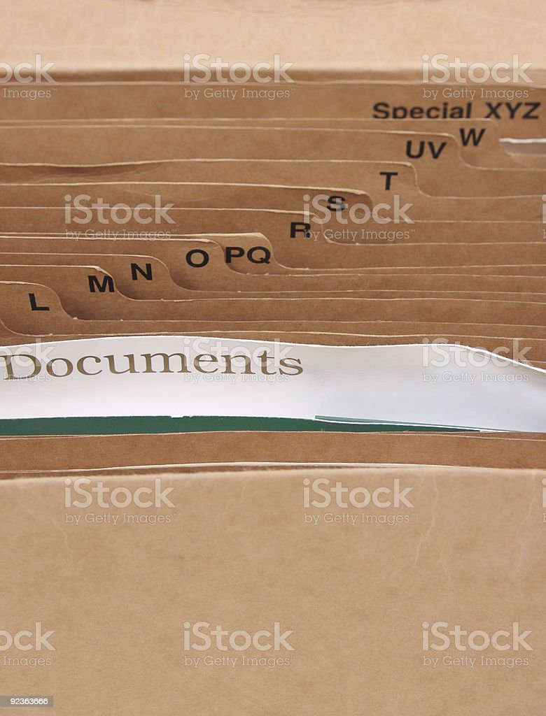 Filing folders2 royalty-free stock photo