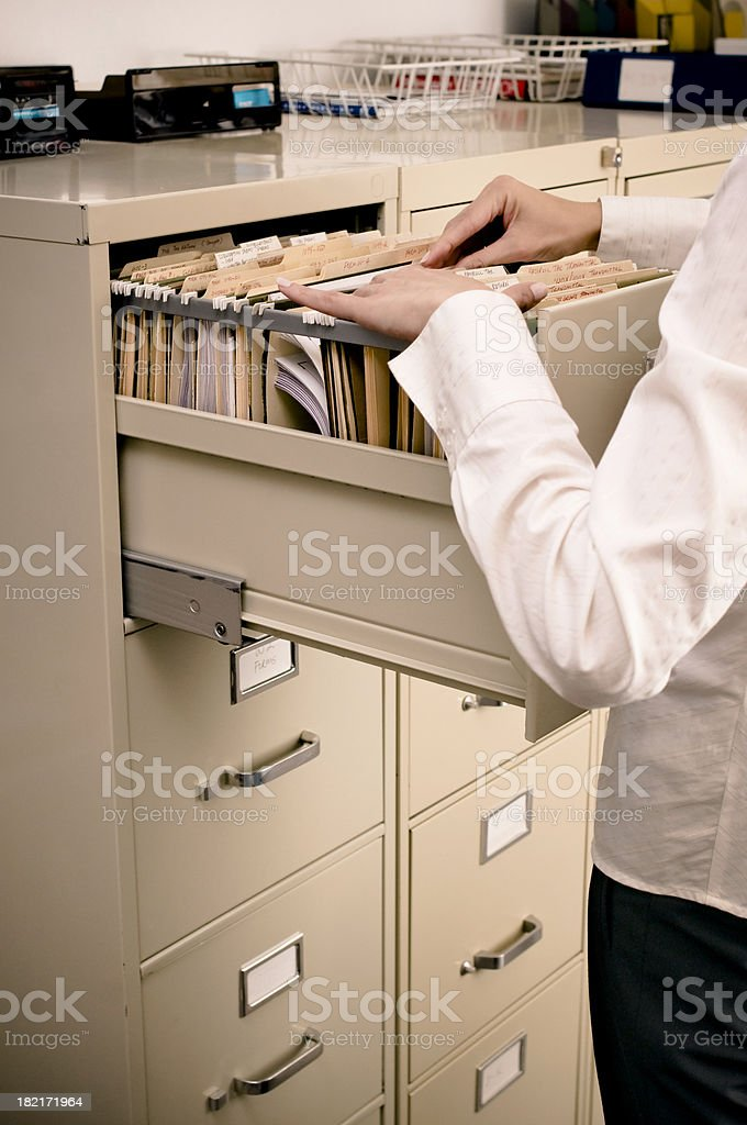 Filing in the Office royalty-free stock photo