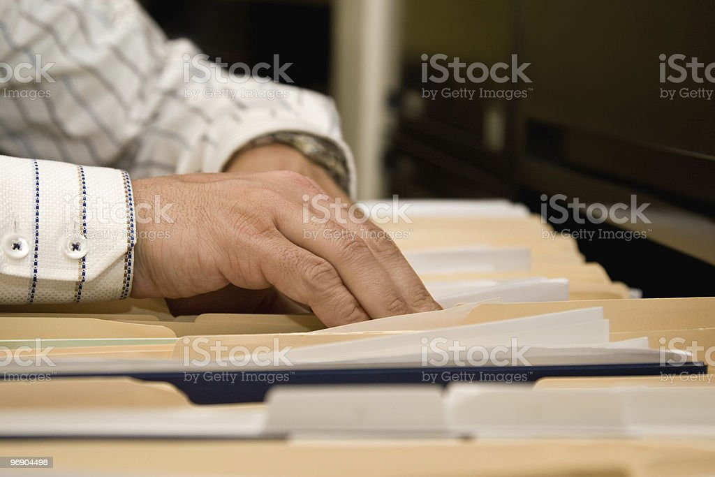 Filing Papers royalty-free stock photo