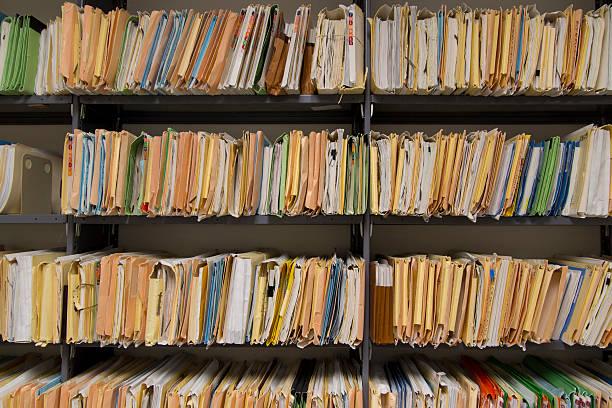Filing records - foto de acervo