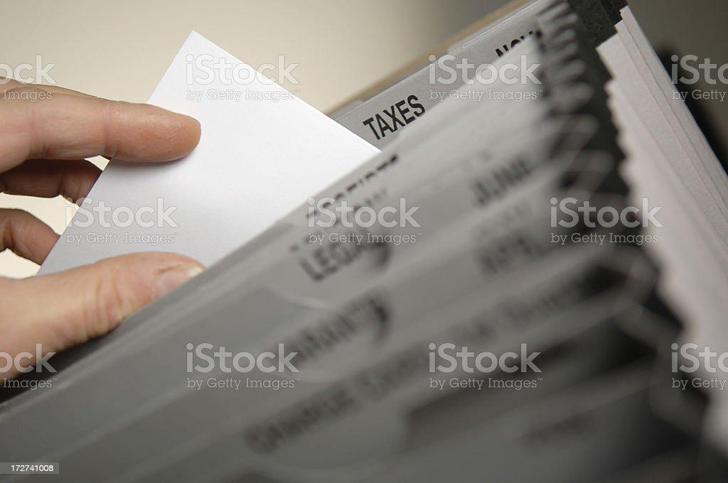 filing series stock photo