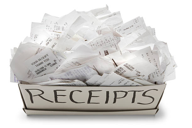 filing system - receipt stock photos and pictures