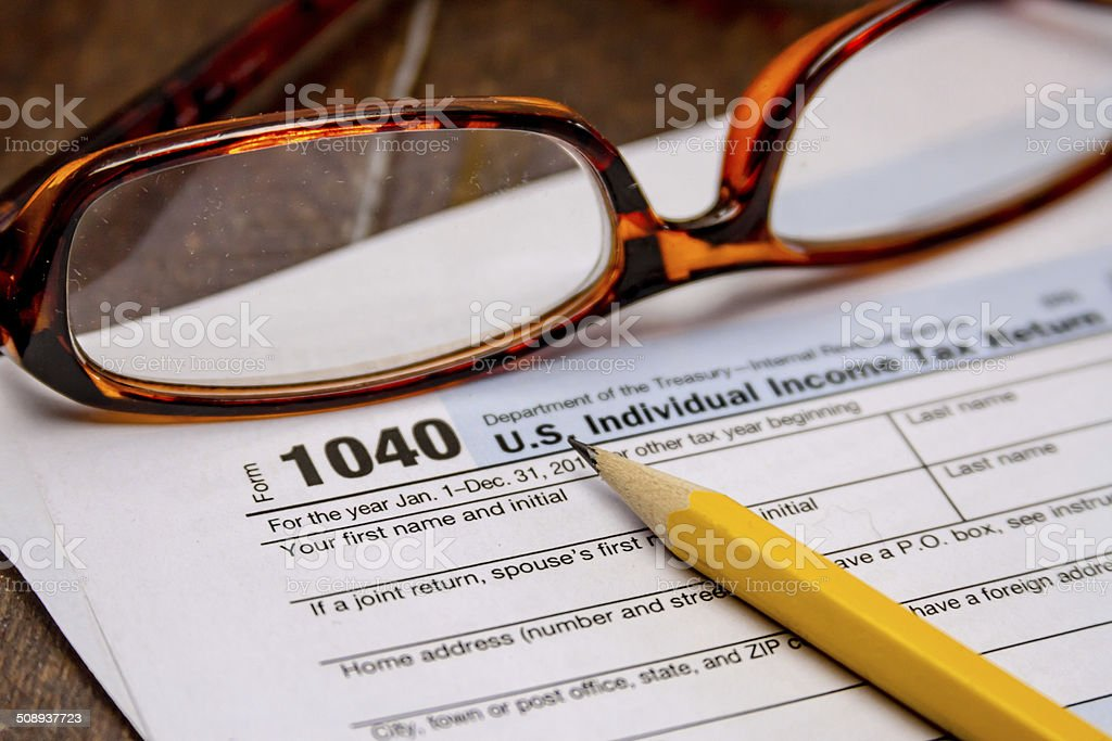 Filing Taxes and Tax Forms stock photo