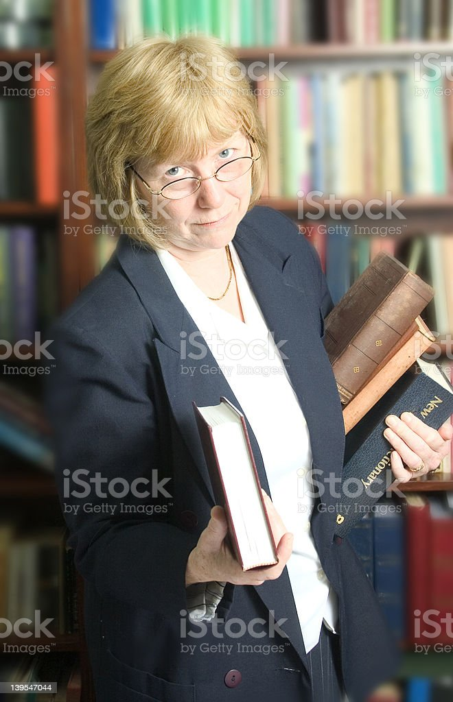 Filing the books royalty-free stock photo