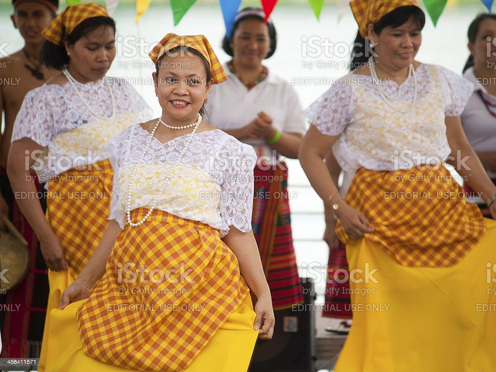 Filipinas Wearing Traditional Costumes stock photo