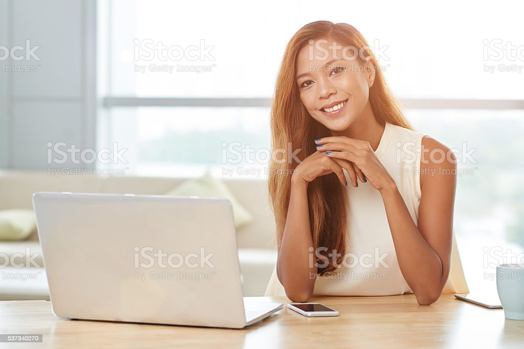 Filipino business lady stock photo