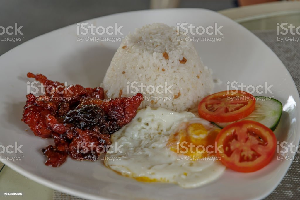 filipino style breakfast set royalty-free stock photo