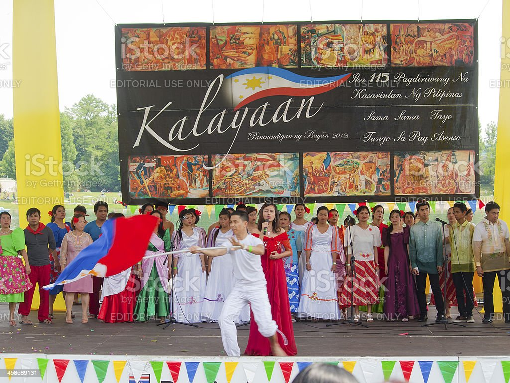 Filipinos Perform During the Independence Day in Milan royalty-free stock photo