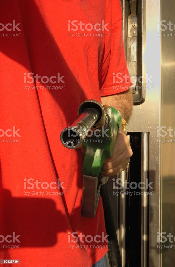 Fill her up! stock photo