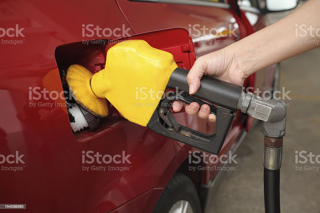 Fill up fuel at petrol station royalty-free stock photo