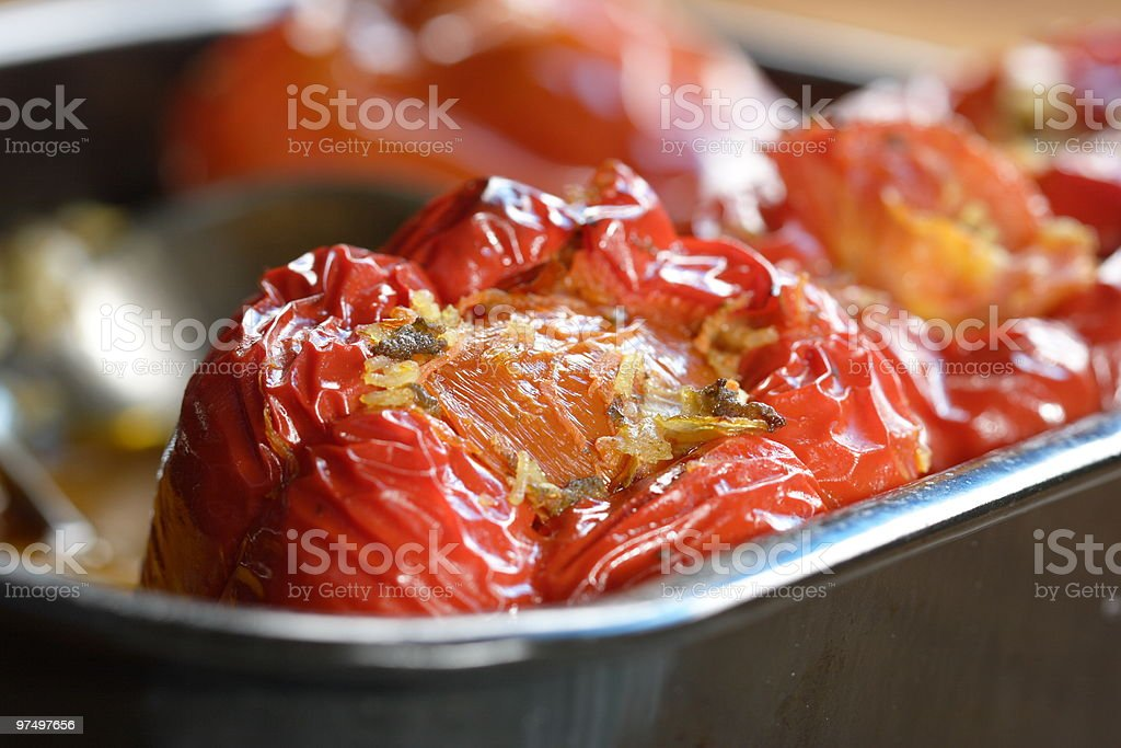 Filled bell pepper royalty-free stock photo