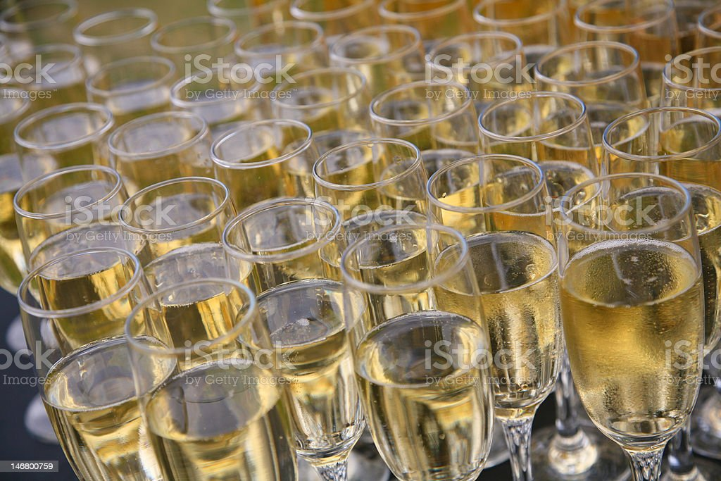 Filled champagne glasses royalty-free stock photo