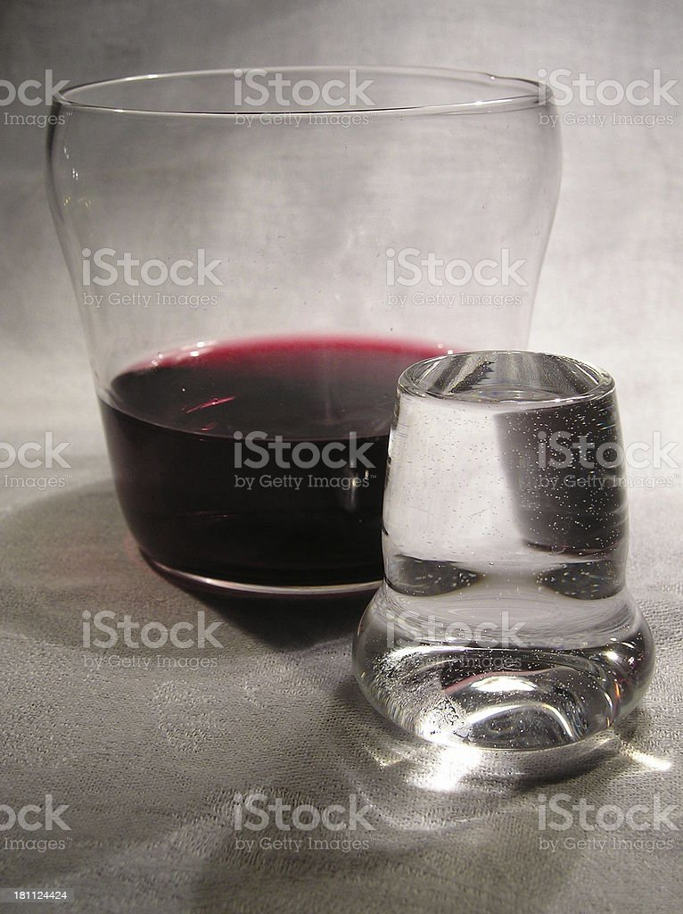 filled glasses royalty-free stock photo