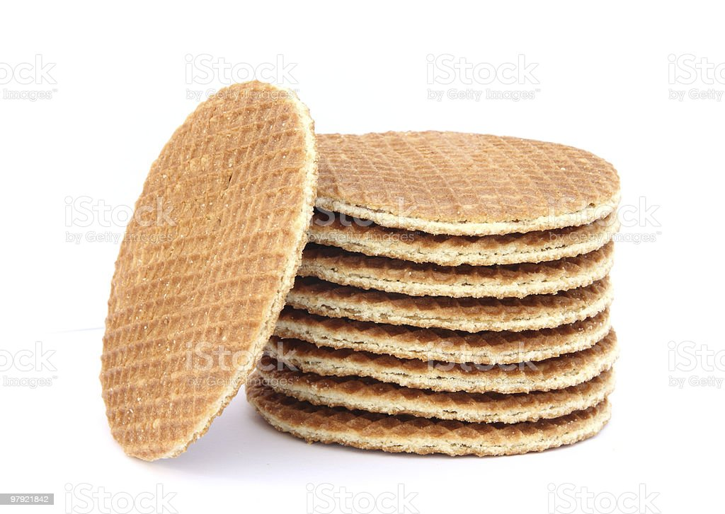 Filled wafer with chocolate royalty-free stock photo