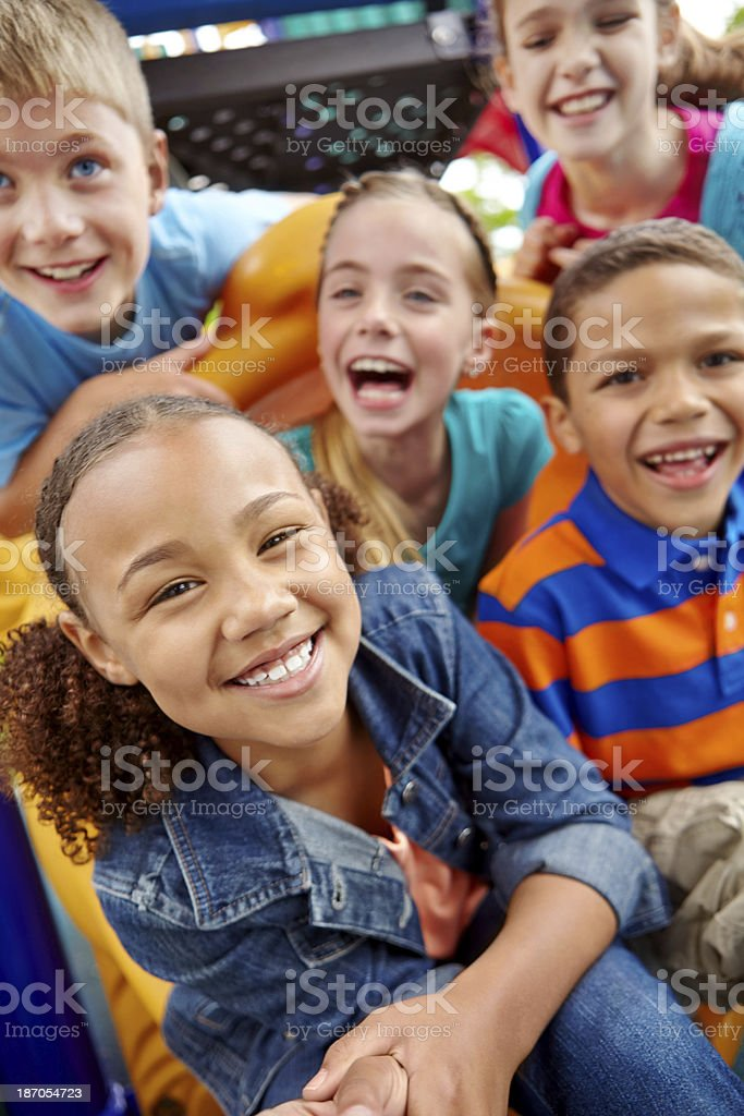 Filled with childhood innocence stock photo