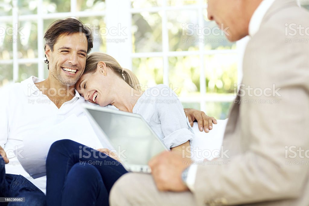 Filled with enthusiasm for their future royalty-free stock photo