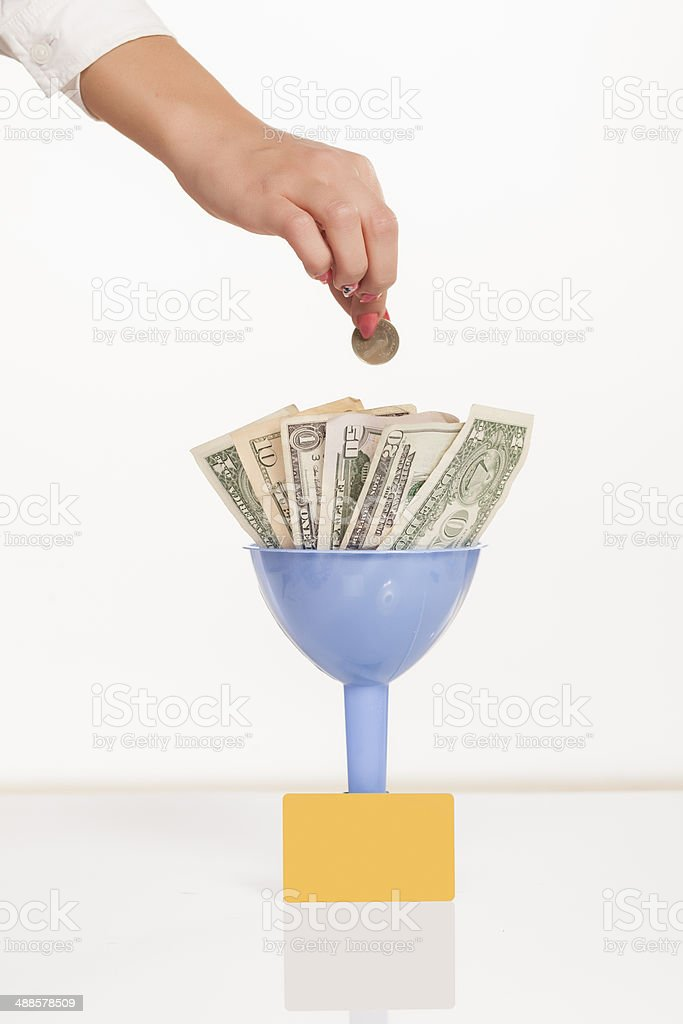 filled with money stock photo