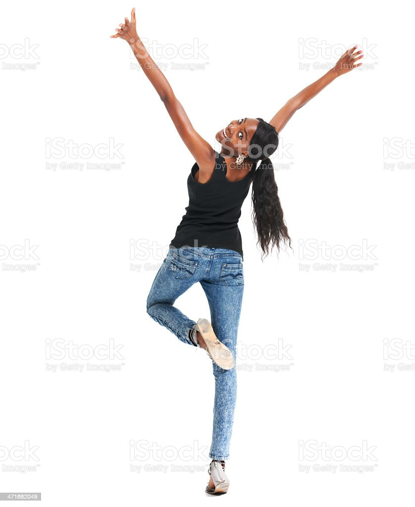 Filled with positive energy and feeling great royalty-free stock photo