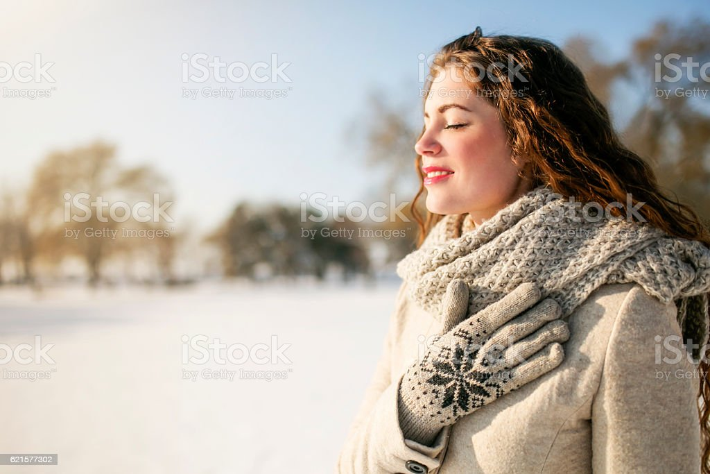 Filled with the beauty of winter photo libre de droits