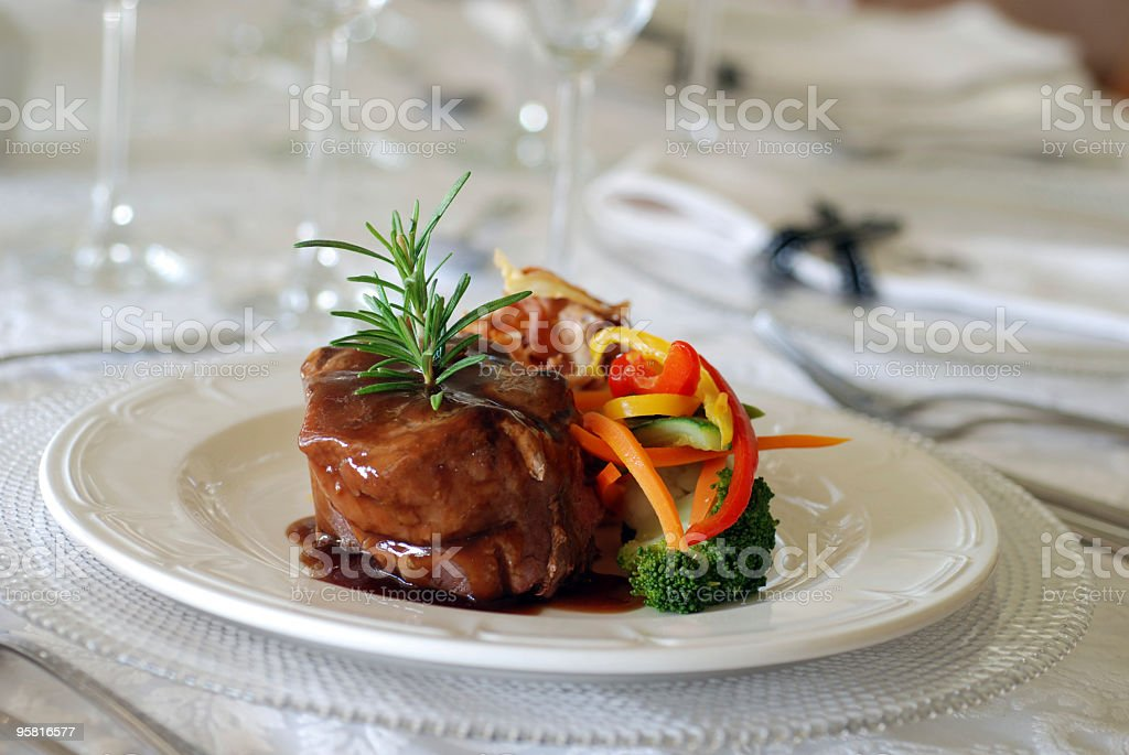 Fillet for Main Course royalty-free stock photo