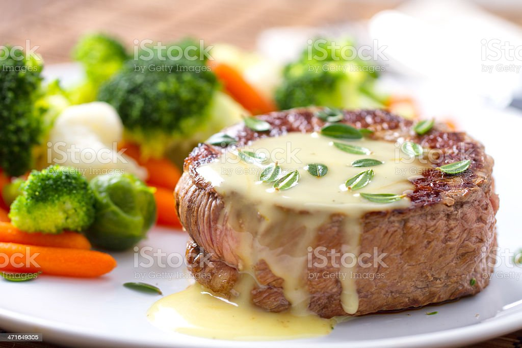 Fillet of beef with béarnaise sauce. royalty-free stock photo