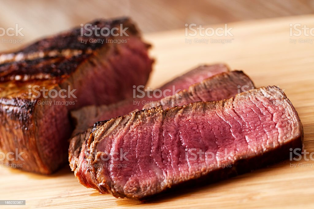 Fillet of beef with salad stock photo