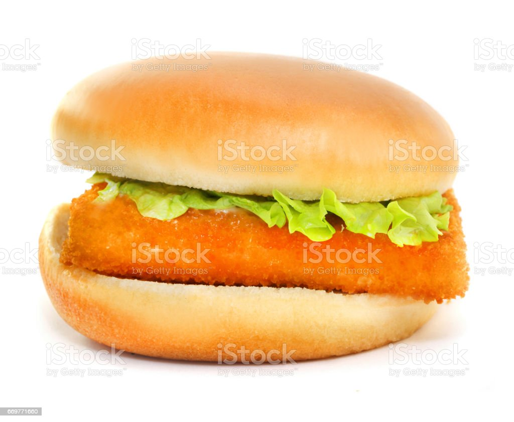 Fillet of fish sandwich stock photo
